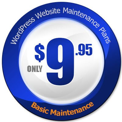 Basic WordPress Maintenance Plan price tag