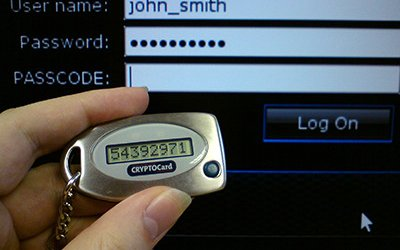 Two factor authentication with crypto key
