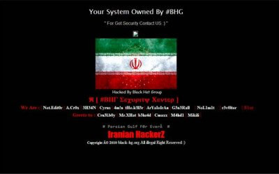 Screenshot of a hacked - defaced website home page