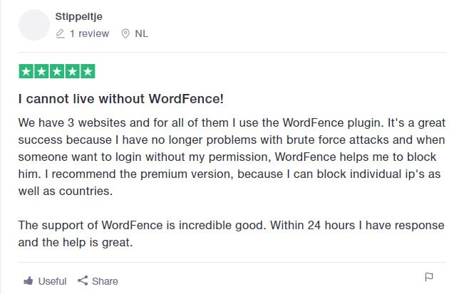 Wordfence 3rd review